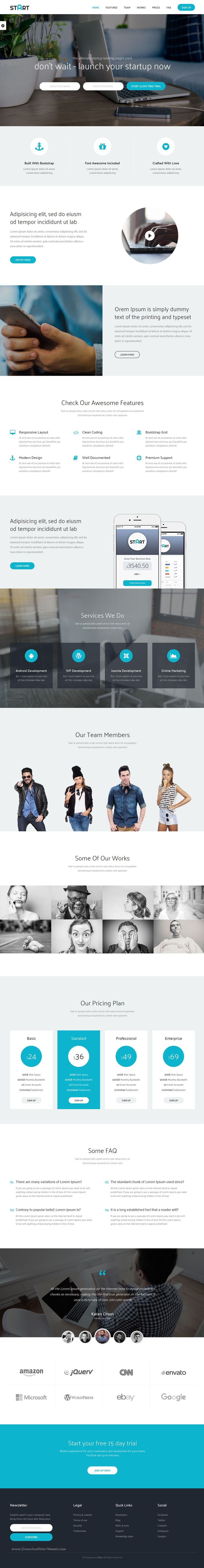 Start complete landing page bootstrap #template for corporate or agencies. It comes in #onepage and multi page layouts. #startup