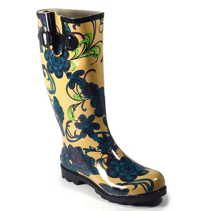 Corkys Sunshine Women's Rain Boots, Size: 11, Turquoise/Blue (Turq/Aqua)