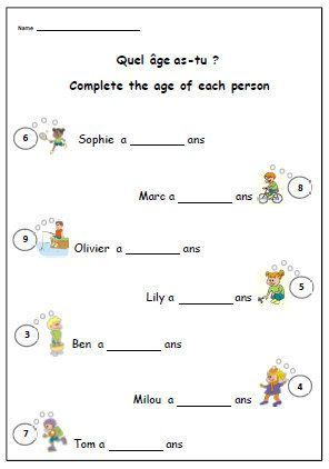 french worksheet about birthdays primary printable for ks1 ks2 learn someone 39 s age in french. Black Bedroom Furniture Sets. Home Design Ideas