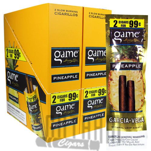 22a34e833ff2 Game Cigarillos Pineapple cigars are part of the Game Cigarillos line from  Garcia Vega