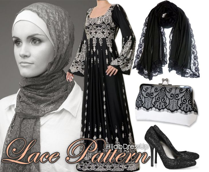Hijab Dress Up # Style # Lace Pattern