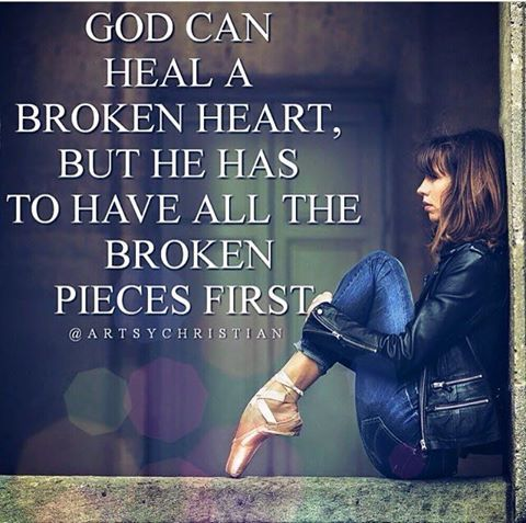 God is a healer, not only of broken bodies but also of broken relationships, broken dreams, and broken hearts. Whatever is broken in your life today hand it over to Him and know that He will heal you, restore you, and make you whole again. No situation is too hard for Him to take care of. Surrender the broken pieces into His hands and let the healing begin.