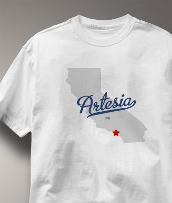 "Cool+Artesia+California+CA+Shirt+from+Greatcitees.com ""On The Map"""