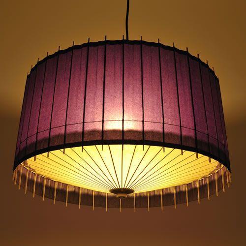 Lampe suspension / contemporaine / en bois / en papier japonais KPL-7136 Hiyoshiya Co.,Ltd.