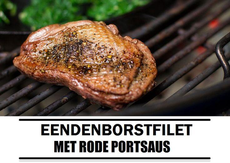 Barbecue recept: eendenborstfilet met rode portsaus