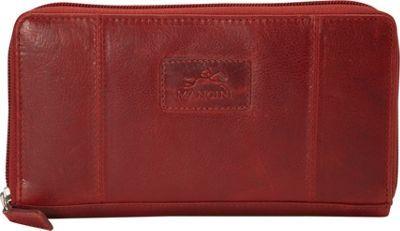Mancini Leather Goods Ladies� RFID Clutch Wallet Red - via eBags.com!