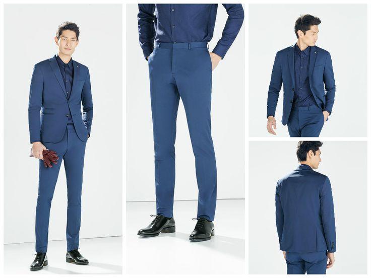 mavi takım elbise (zara)