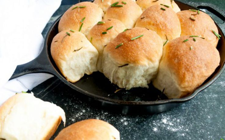 <p>These skillet rolls have a crispy exterior, a dense doughy center, and plenty of buttery flavor.</p>