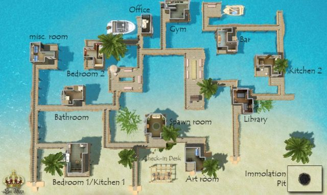 Sims 3 Resort Layout Maison Sims Sims Idees Minecraft