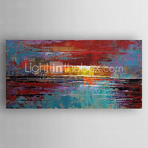 Pintados à mão Abstrato Horizontal,Moderno 1 Painel Tela Pintura a Óleo For Decoração para casa de 2017 por $97.29