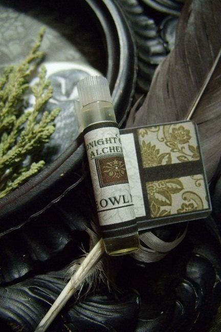 The Owl Moon Gypsy Apothecary Perfume: Invoke a bit of owl and moon magick in this wooded earth scent with hints of smoky vanilla. Cedarwood, clary sage, hint of lavender, ylang ylang, benzoin, amber resin. $3.95 by Midnight Gypsy Alchemy