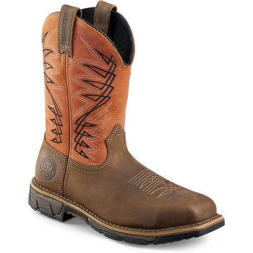 Irish Setter Men's 11 in Marshall Steel Toe Work Boots (Brown/Rust or Copper, Size 9) - Wellington Steel Toe Work Boots at Academy Sports