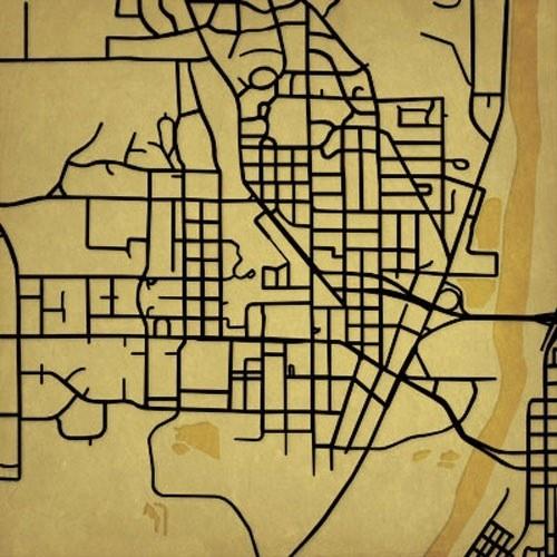 Minimalist graphic maps of America