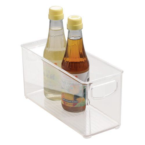 From 8.02 Interdesign Cabinet/kitchen Binz Kitchen Storage Container Small Plastic Storage Boxes For The Fridge Freezer Or Pantry Clear