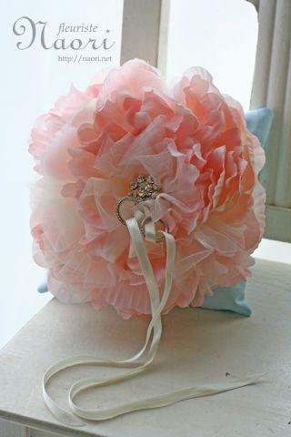 ピオニア 芍薬のリングピロー ピンク