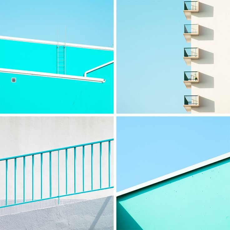 Matthieu Venot: Double Tap / cropping a photo into a symmetrical candy coloured composition, french photography