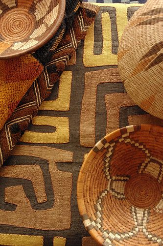 african textile and basket