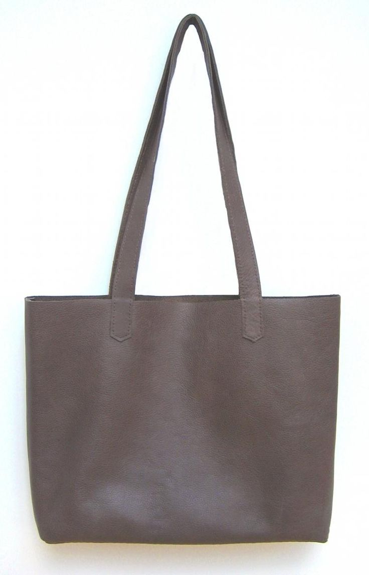 DIY Simple Leather Tote Bag