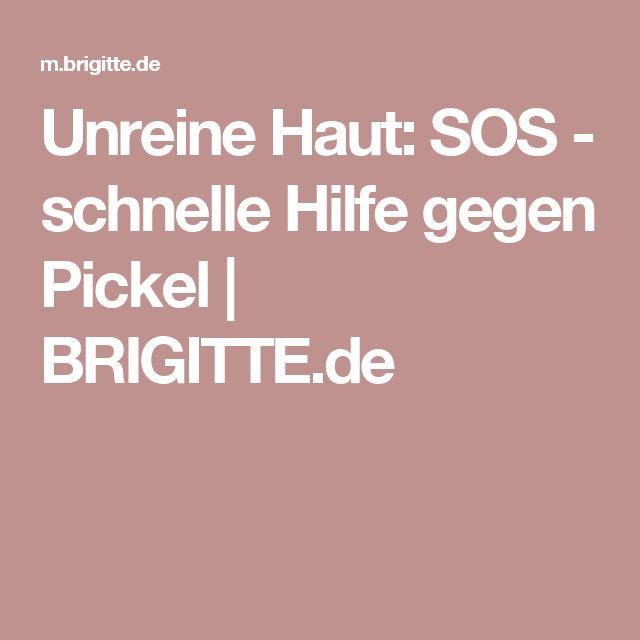 Unreine Haut: SOS - schnelle Hilfe gegen Pickel | BRIGITTE.de