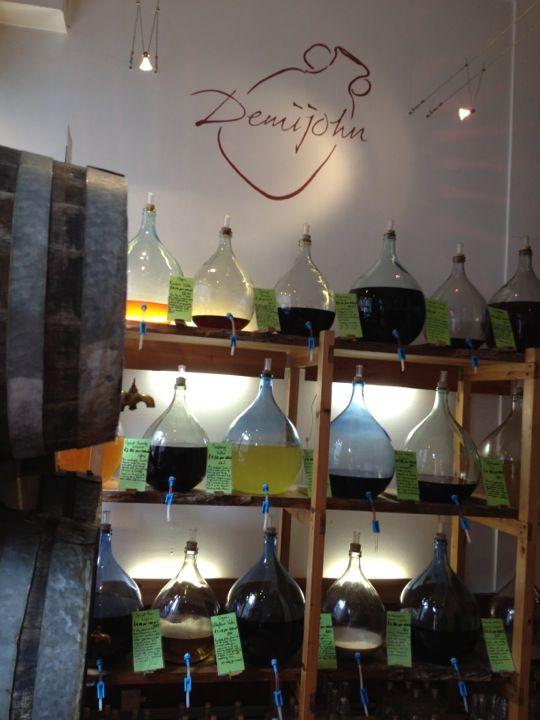 Demijohns a liquid delicatessen, with a great range of flavoured oils and vinegars. But even more exciting they also stock a selection of flavoured alcohols such as Rhubarb Vodka and Orange Seville Gin plus a number of single cask malt whiskies