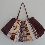 Patchwork Fan-Shaped Tote Handbag - by OneBusySloth on madeit