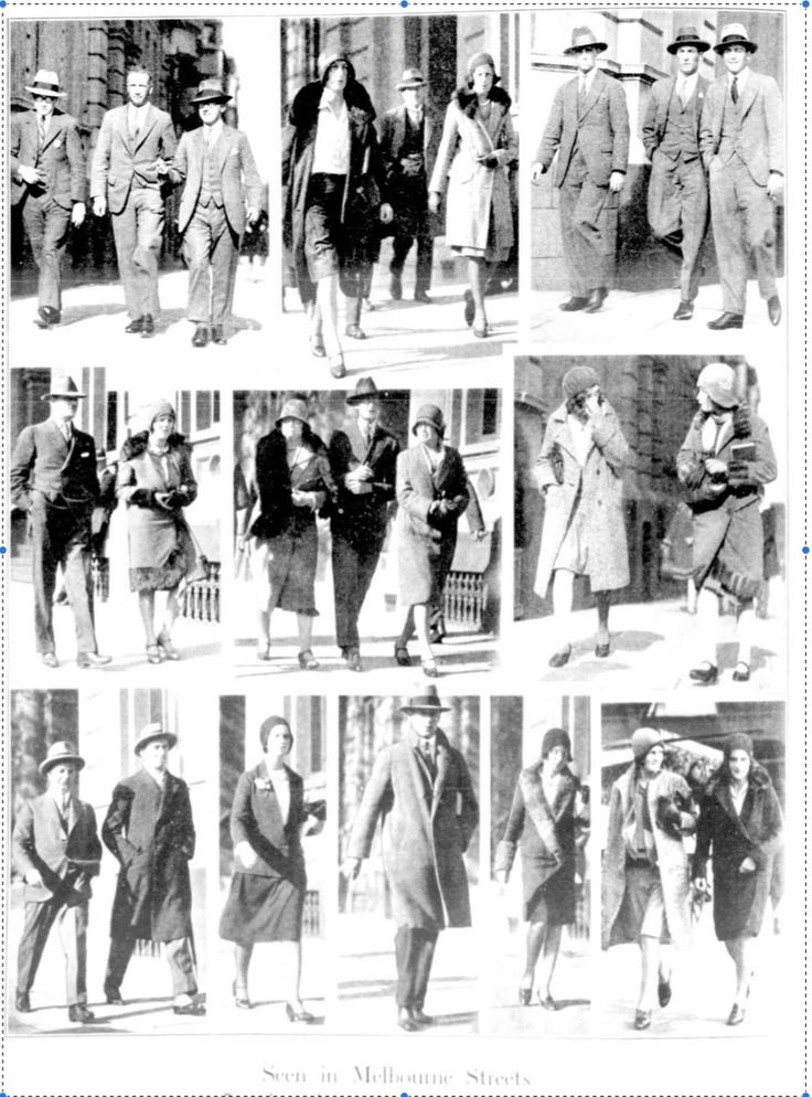 People in the Streets on Melbourne 1930