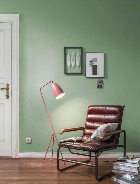Premium Wandfarbe Grün Patinagrün Alpina Feine Farben