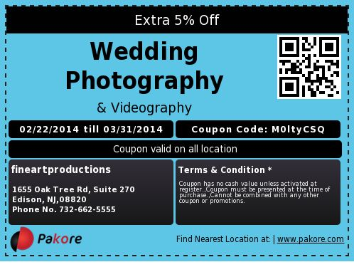 Extra 5% Off  Wedding Photography