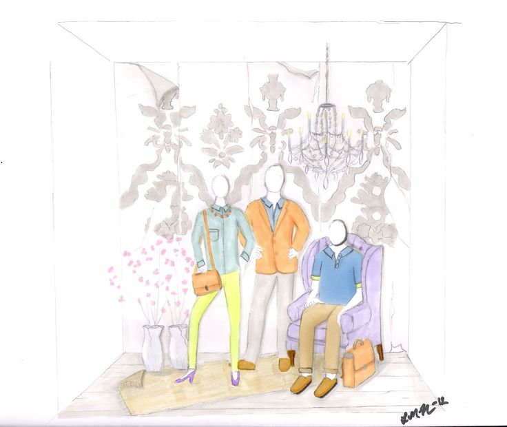 Sketch of window display