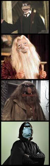 The Muppets as Harry Potter characters...BWHAHAHA! Too awesome.