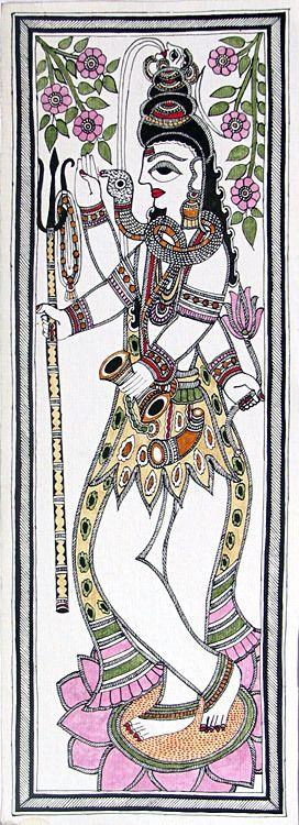 Lord Shiva - Madhubani Painting $41.00 only