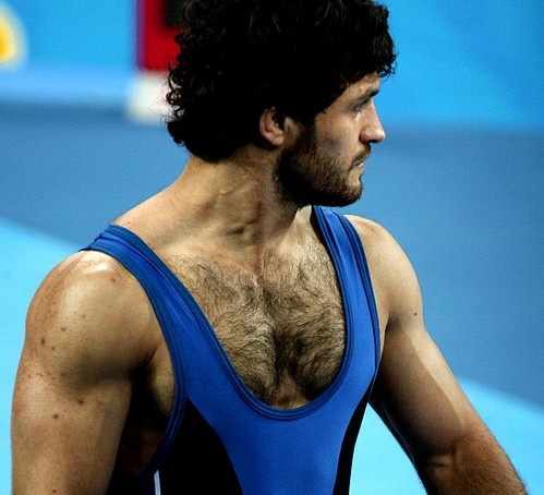 Very hairy chest men