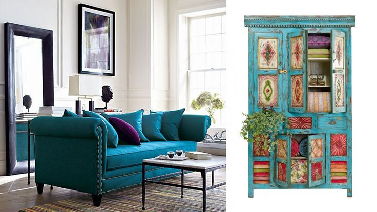 бирюзовая мебель