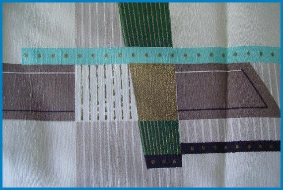 Vintage MidCentury drapery fabric store samples by hollyhockdaze, $45.99
