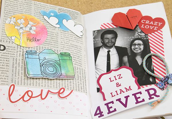 Album de scrapbook pinteres - Como decorar un album de fotos ...