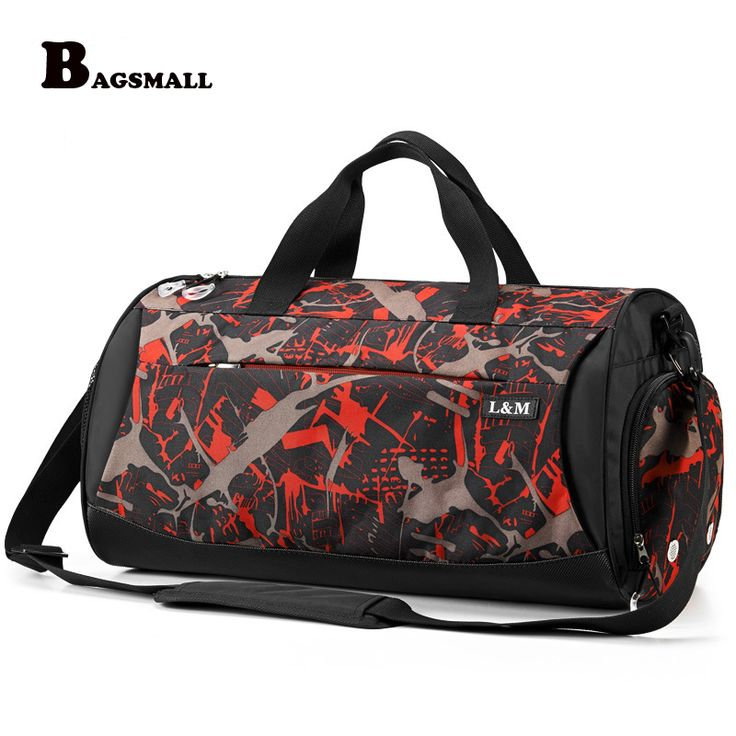 BAGSMALL Brand Breathable Travel Bags Men's Fashion Travel Kit With Shoe Bag Waterproof Dry Wet Depart  Camouflage Weekend Bag