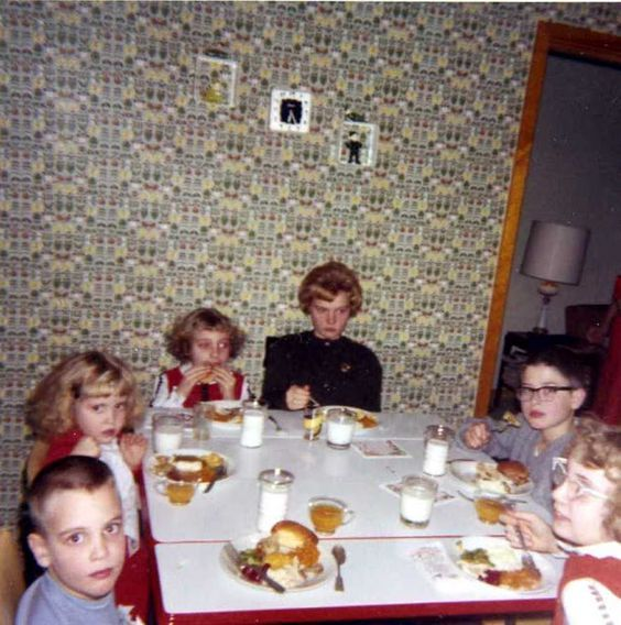 Thanksgiving Pictures from the 1960s - Jen X...Kid's table 1960's
