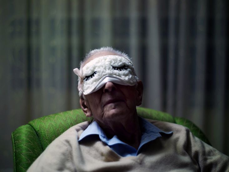 Image by Phil Toledano from 'Days With My Father'; I like the innocence in this image. If I were going to have portraits of my nonna in any of my photos, I would want lighthearted ones like this that portray her fun personality that still shines through her dementia.