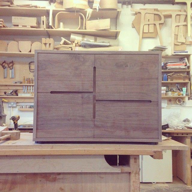 """Tim to sand and finish! #walnut #cabinet #furniture #design #designer #maker #bespoke #handmade #madeinnewcastle #afiddesign"""