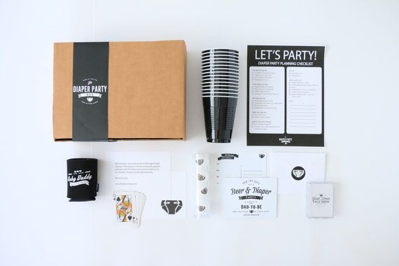 Diaper Party Box - Party Kit for Dad's