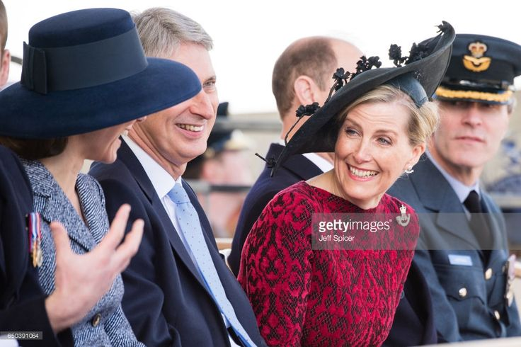 (L-R) Catherine, Duchess of Cambridge, Philip Hammond and Sophie, Countess of Wessex during the dedication and unveiling of The Iraq and Afghanistan memorial on March 9, 2017 in London, England.  (Photo by Jeff Spicer/Getty Images)