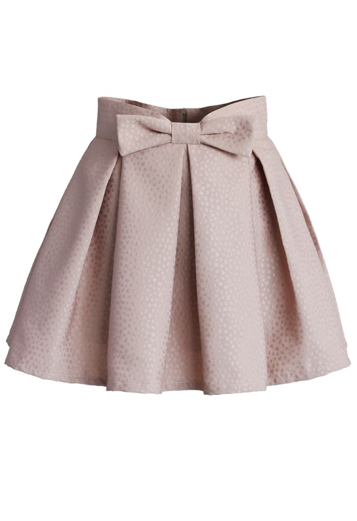 Sweet Your Heart Bowknot Pleated Mini Skirt in Pink - New Arrivals - Retro, Indie and Unique Fashion