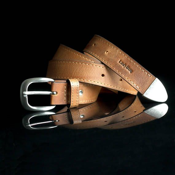 Leather Belt Handmade Belts Whiskey