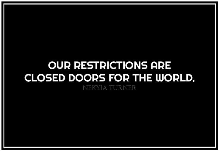 #39 our restrictions are...