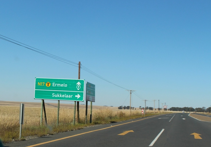 Dutch city names in South Africa: named so as a lack of creativity or just homesick? The road from Johannesburg to Swaziland.