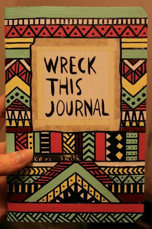 Wreck this journal, aztex cover..♥