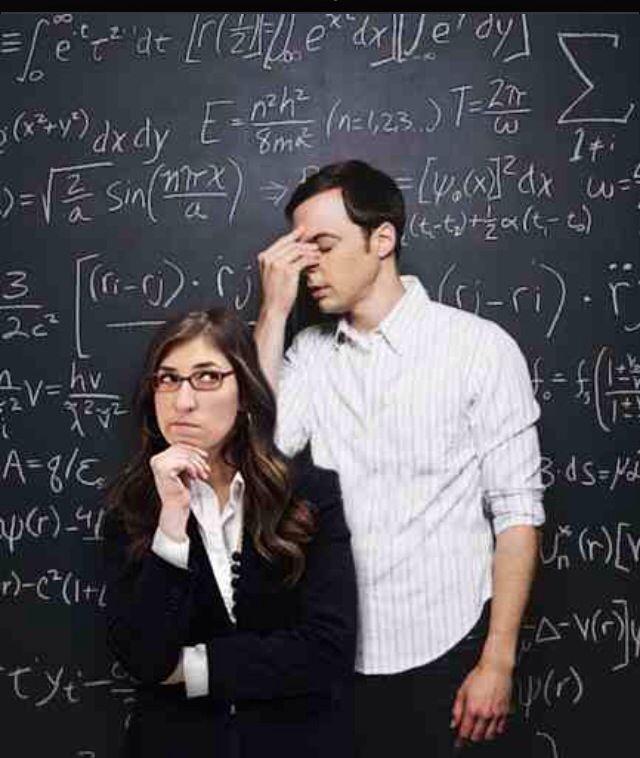 Dr. Sheldon Cooper and Dr. Amy Farrah Fowler. Pasadena