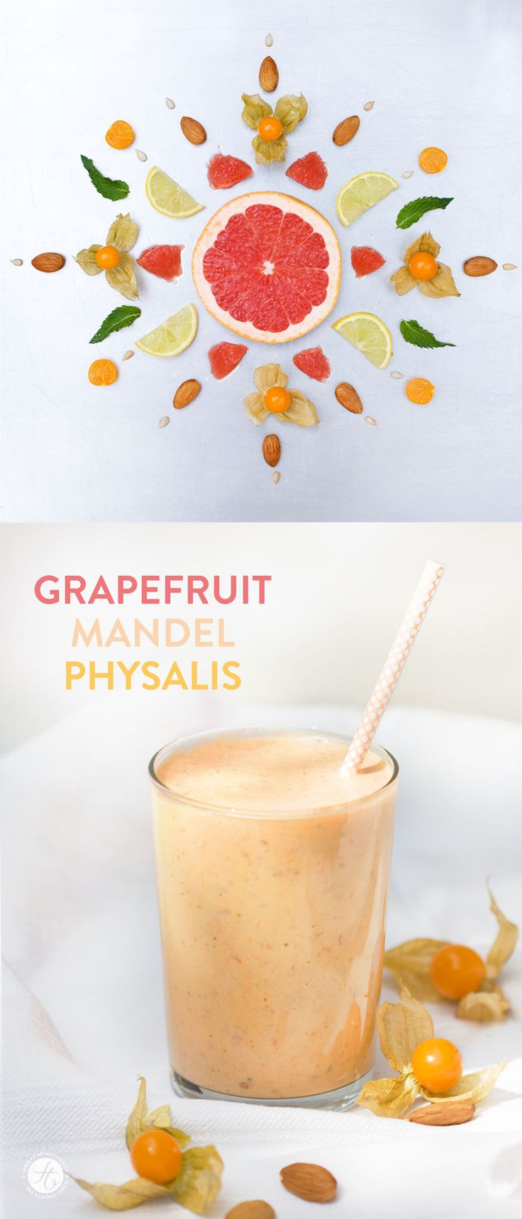 SmoothieMontag | Grapefruit Mandel Physalis Smoothie #feiertaeglich #smoothiemontag