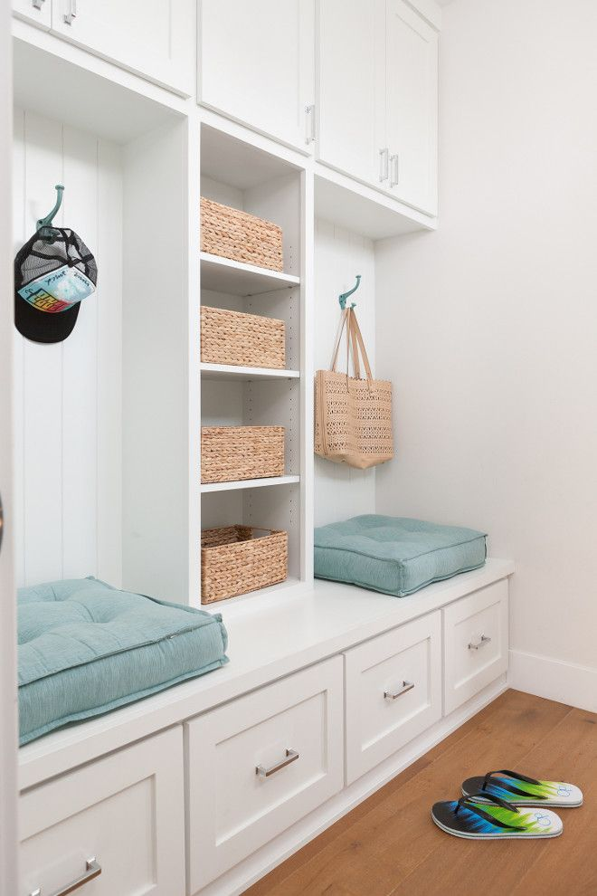 Mudroom. Mudroom cabinet with shelves, bench and drawers. Mudroom cabinet. Mudroom cabinet ideas. Mudroom cabinet shelves. Mudroom bench. Mudroom cabinet drawers. #mudroom Jasmine Roth.
