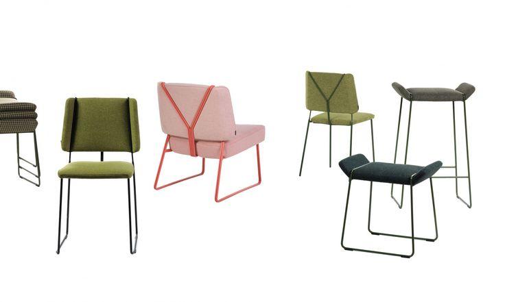 На Стокгольмской мебельной выставке в 2015 году был представлен стул FRANKIE, самовыразительный, получивший вдохновение от подтяжек и название из мира танца Линди Хоп. Теперь Вы сможете увидеть этот стул еще в 4-х версиях: лаунж, табурет, барный стул и стул на полозьях.